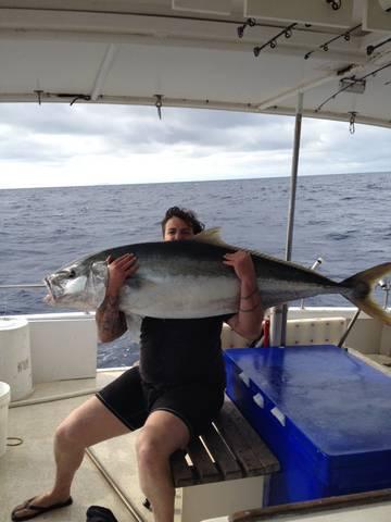 kingfish on boat
